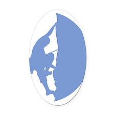 Climber Logo Oval Car Magnet