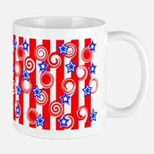 Red White and Blue Mug