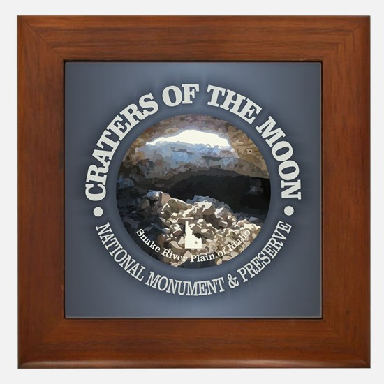 Craters of the Moon Framed Tile