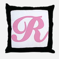 R Initial T-shirts Throw Pillow
