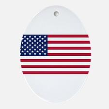 US Flag large Ornament (Oval)