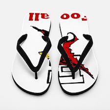 Cardinal Football Flip Flops
