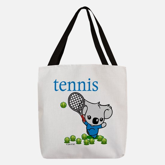 Tennis Koala Bear Polyester Tote Bag