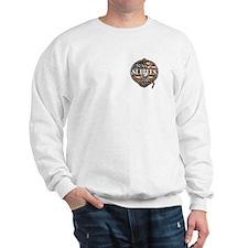 US Navy Seabees Anchor Flag S Sweatshirt