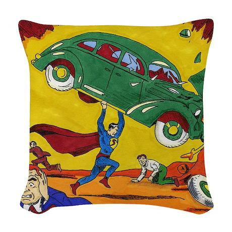 Superman No. 1 Woven Throw Pillow