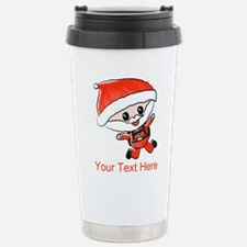 Skydiving Santa and Text Travel Mug