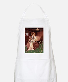 Seated Angel & Basset Apron