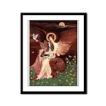 Seated Angel & Basset Framed Panel Print