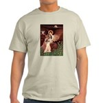 Seated Angel & Basset Light T-Shirt
