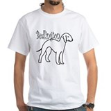 Bedlington terrier Mens White T-shirts