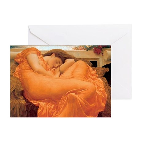 Flaming June-Rectangle Cropt Greeting Card