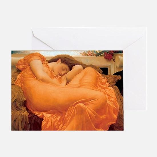 Flaming June-Rectangle Cropt Greeting Card