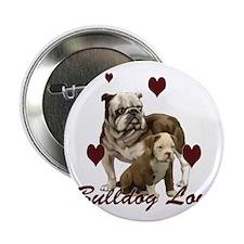 """Bullddog Love 2.25"""" Button"""
