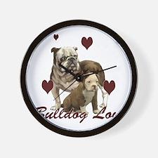 Bullddog Love Wall Clock