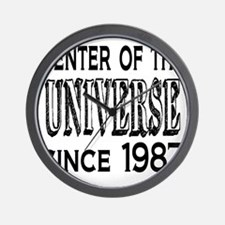 Center of the Universe Since 1987 Wall Clock