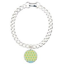 yellow blue green argyle Bracelet