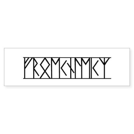 Valor Runes (Old Norse) Bumper Sticker