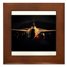 F16 Pinup Framed Tile