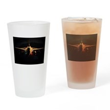 F16 Pinup Drinking Glass