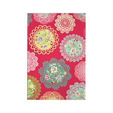 Pink floral doily Rectangle Magnet