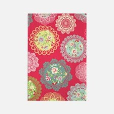 Pink floral doily Rectangle Magnet