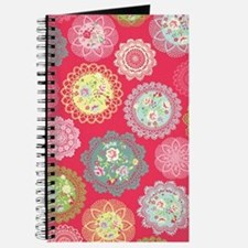 Pink floral doily Journal