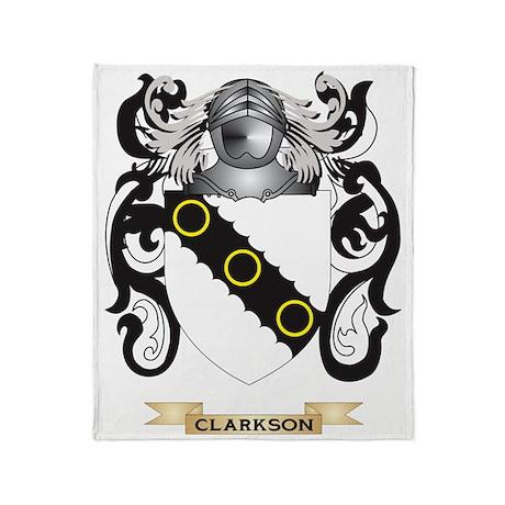 Clarkson Coat of Arms Throw Blanket