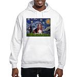 Starry / Basset Hound Hooded Sweatshirt