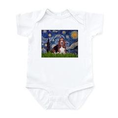 Starry / Basset Hound Infant Bodysuit