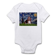 Starry / Basset Hound Infant Bodysuit