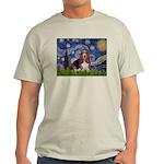 Starry / Basset Hound Light T-Shirt