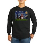 Starry / Basset Hound Long Sleeve Dark T-Shirt