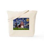 Starry / Basset Hound Tote Bag