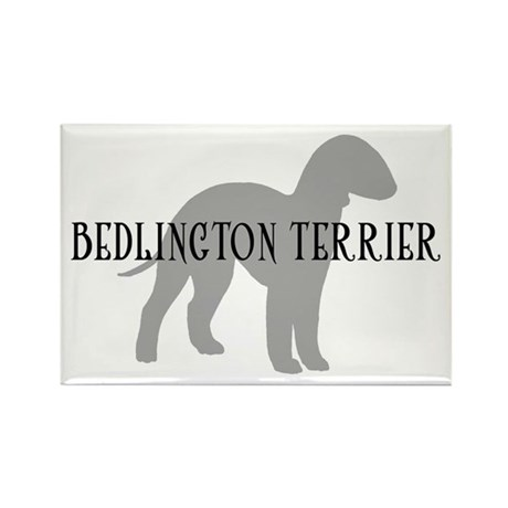 Bedlington Terrier Rectangle Magnet