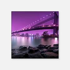 "Manhattan Bridge Square Sticker 3"" x 3"""