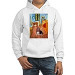 Room with a Basset Hooded Sweatshirt
