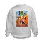 Room with a Basset Kids Sweatshirt