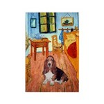 Room with a Basset Rectangle Magnet (10 pack)