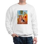 Room with a Basset Sweatshirt