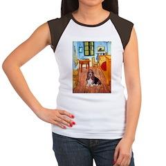 Room with a Basset Women's Cap Sleeve T-Shirt