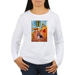 Room with a Basset Women's Long Sleeve T-Shirt