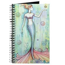 Bubbles Mermaid Fantasy Art by Molly Harri Journal
