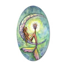 Mermaid Moon Fantasy Art 35x21 Oval Wall Decal