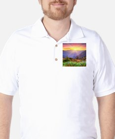 Majestic Sunset Golf Shirt
