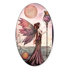 The Golden Dragon Fairy Fantasy Art Decal