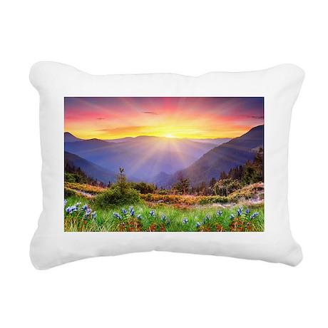 Majestic Sunset Rectangular Canvas Pillow