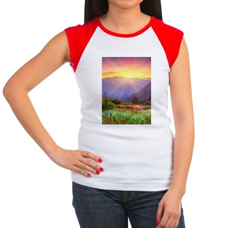 Majestic Sunset Women's Cap Sleeve T-Shirt