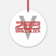 283 Small Block Round Ornament