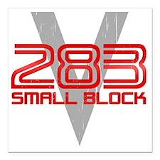 "283 Small Block Square Car Magnet 3"" x 3"""