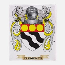 Clements Coat of Arms Throw Blanket